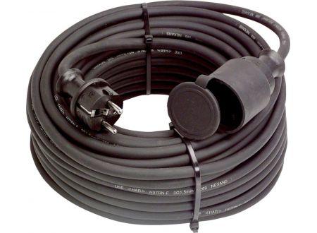 EDE Gummi-Kabelverlängerung 50m, IP44, H07RN-F3G1,5