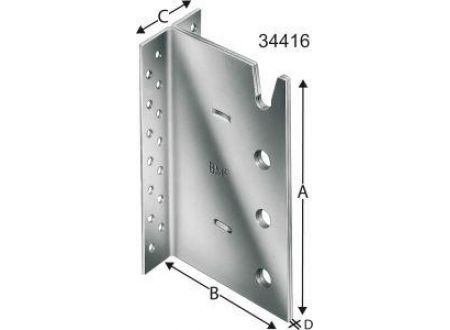 EDE SST Balkenträger 4-reihigBT4-120-B Lieferumfang: 25 Stück