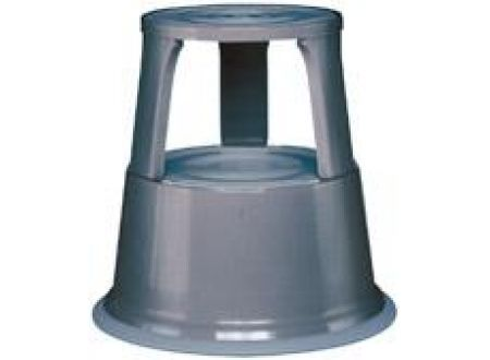 EDE Rollhocker Metall grau