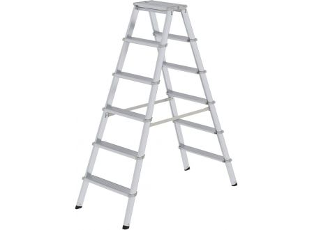 EDE Alu-Stufenstehleiter ML 2x6 Stufen