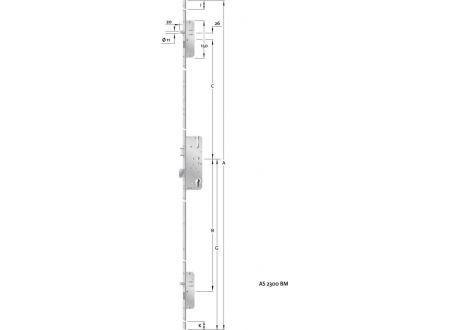 EDE HT-Mehrfachverriegelung, PZ,E92,VK8,D45,20kt,DL/DR