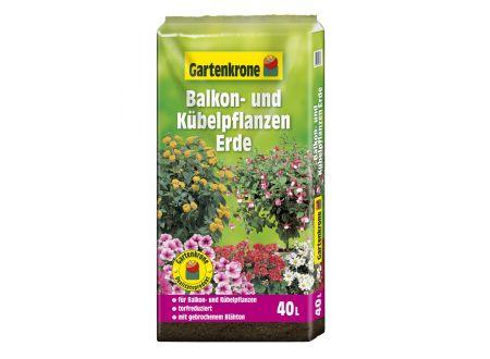 Gartenkrone Balkon- und  Kübelpflanzenerde, torfreduziert 40L bei handwerker-versand.de günstig kaufen