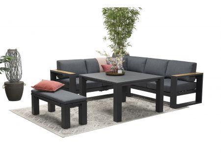 Cube Set 5 teilig inklusive Lounge-Eckbank, Tisch und Bank