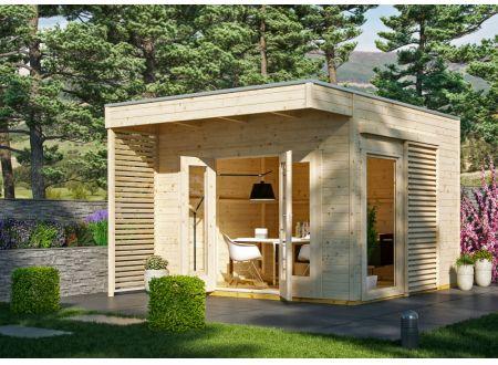 Gartenhaus Tokio 2, 19mm  340 x 340 cm natur bei handwerker-versand.de günstig kaufen