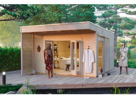 Gartenhaus Tokio 4, 19mm  402 x 402 cm natur bei handwerker-versand.de günstig kaufen