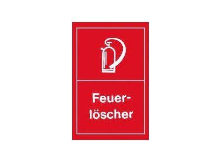 Warnschild Ausführung:Feuerlöscher