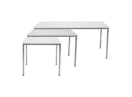 EDE Tisch 1Stück Maße:800x800mm Farbe:lichtgrau/lichtgrau
