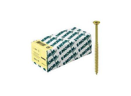 Spanplattenschrauben Senkkopf Teilgewinde Pozidrive E-NORMpro Abmessung:6,0 x 150/72mm Farbe:gelb