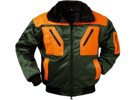 E/D/E Logistik-Center Pilotenjacke Rotdorn grün-orange XXL/62-64 bei handwerker-versand.de günstig kaufen