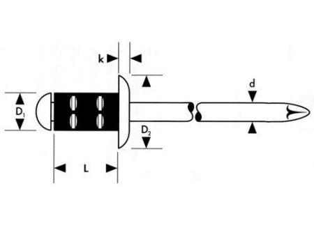 Gesipa Mehrbereichs-Blindniet Stahl Stahl Flachrundkopf bei handwerker-versand.de günstig kaufen