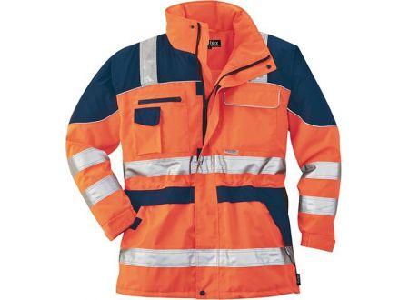 Warnschutzparka L orange/blau bei handwerker-versand.de günstig kaufen