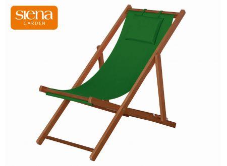 Siena Garden Liegestuhl Faro Hartholz 4 Positionen verstellbar dunkelgrün bei handwerker-versand.de günstig kaufen