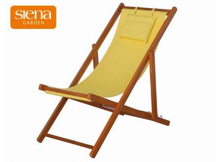 Siena Garden Liegestuhl Faro Hartholz 4 Positionen verstellbar gelb bei handwerker-versand.de günstig kaufen