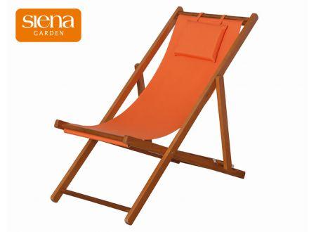 Siena Garden Liegestuhl Faro Hartholz 4 Positionen verstellbar Orange bei handwerker-versand.de günstig kaufen