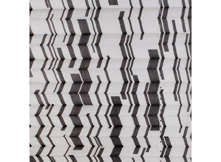 Liedeco Plissee Faltenstore XXL Raffstore Farbe:schwarz weiß Breite:80 cm