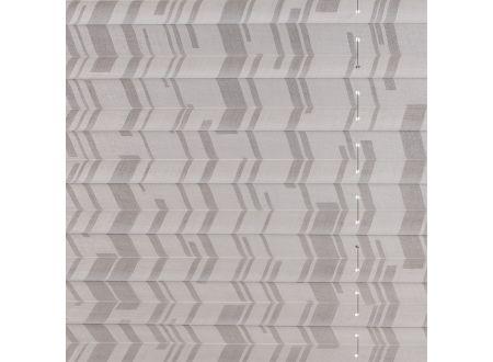 Liedeco Plissee Faltenstore XXL Raffstore Farbe:weiß / weiß Breite:120 cm