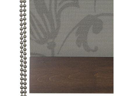 Liedeco Rollo Natur mit Seitenzug Seitenzugrollo Länge 180 cm Farbe:Dekor dunkelbraun Breite:100 cm