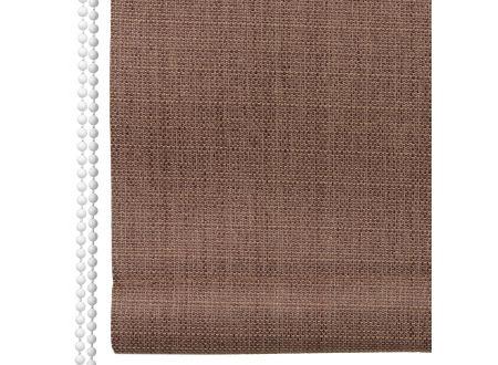 Liedeco Rollo Struktur Verdunkelung Seitenzugrollo Länge 175 cm Farbe:braun Breite:142 cm