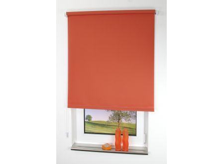 Liedeco Rollo mit Kette lichtdurchlässig Uni Seitenzugrollo für Fenster Farbe:terracotta Länge:180 cm Breite:92cm