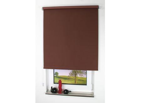 Liedeco Rollo mit Kette Verdunkelung uni Seitenzugrollo für Fenster und Farbe:cappuccino Länge:180 cm Breite:62 cm