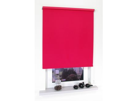 Liedeco Rollo mit Kette Verdunkelung uni Seitenzugrollo für Fenster und Farbe:rot Länge:180 cm Breite:62 cm