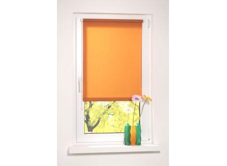 Liedeco Rollo mit Klemmträger Klemmfix lichtdurchlässig Länge 150 cm Farbe:Orange Breite:72 cm