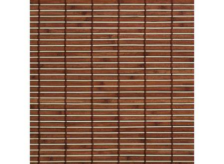 Liedeco Rollo Holz mit Seitenzug Holzrollo für Fenster und Tür Farbe:braun Länge:170 cm Breite:160 cm