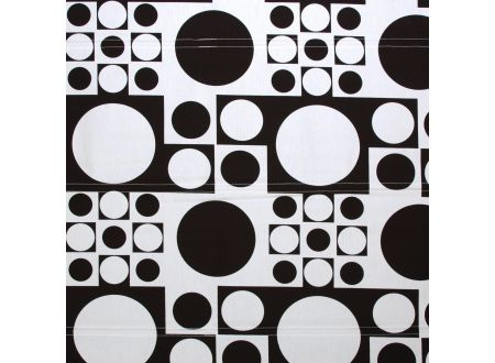 Liedeco Raffrollo Dakar Jacquard Rollo mit Seitenzug für Fenster und Tür Farbe:schwarz weiß Länge:250 cm Breite:90 cm
