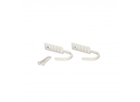 Raffhaken kurz für Gardinen 2 Stück Farbe:weiß