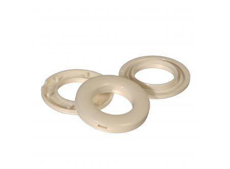 Stoffösen Standard Ø 20,33 und 40 mm für Vorhänge Farbe:weiß Größe:33 mm Durchmesser