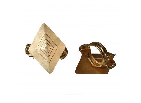liedeco donauklammern motiv rombus f r gardinenstangen gold matt kaufen. Black Bedroom Furniture Sets. Home Design Ideas