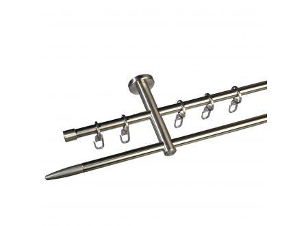 Liedeco Gardinenstange Stick 12 mm Stilgarnitur aus Edelstahl bei handwerker-versand.de günstig kaufen