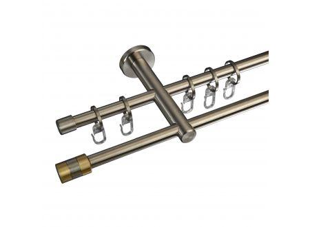 Liedeco Gardinenstange Stamp 12 mm Stilgarnitur aus Edelstahl bei handwerker-versand.de günstig kaufen
