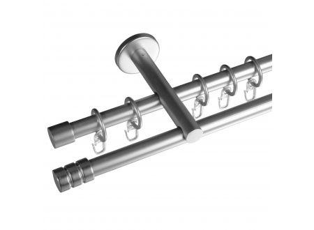Liedeco Gardinenstange Zylinder mit Rille 16 mm Stilgarnitur bei handwerker-versand.de günstig kaufen