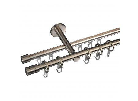 Liedeco Gardinenstange Zylinder mit Rille 16 mm Stilgarnitur Innenlauf bei handwerker-versand.de günstig kaufen