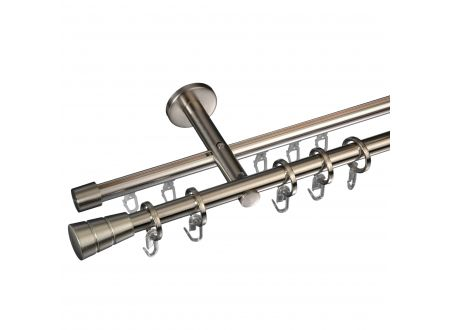 Liedeco Gardinenstange Concav mit Rille 16 mm Stilgarnitur Innenlauf bei handwerker-versand.de günstig kaufen