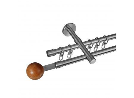 Liedeco Gardinenstange Harsens 16 mm Stilgarnitur aus Edelstahl bei handwerker-versand.de günstig kaufen