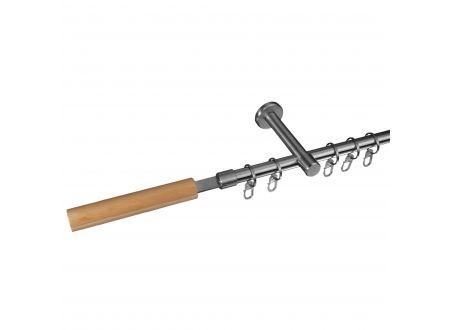 Liedeco Gardinenstange Kolding 16 mm Stilgarnitur aus Edelstahl bei handwerker-versand.de günstig kaufen