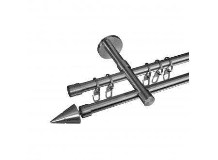 Liedeco Gardinenstange Kegel 16 mm Stilgarnitur aus Edelstahl bei handwerker-versand.de günstig kaufen