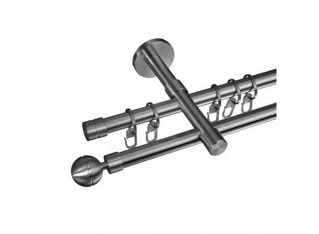 Liedeco Gardinenstange Kugel 16 mm Stilgarnitur aus Edelstahl bei handwerker-versand.de günstig kaufen