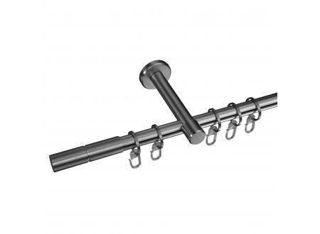 Liedeco Gardinenstange Zylinder 16 mm Stilgarnitur aus Edelstahl bei handwerker-versand.de günstig kaufen