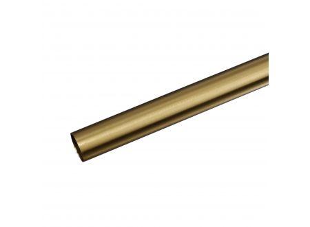 Liedeco Gardinenstangen-Rohr Inox ø 20 mm Farbe:messing massiv Länge:200 cm