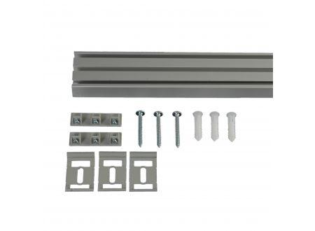 Liedeco Vorhangschiene 3-läufig für Vorhänge Schiebevorhang Farbe:aluminium Länge:270 cm