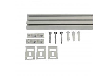Liedeco Vorhangschiene 3-läufig für Vorhänge Schiebevorhang Farbe:weiß Länge:270 cm