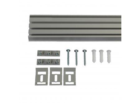 Liedeco Vorhangschiene 4-läufig für Vorhänge Schiebevorhang Farbe:aluminium Länge:220 cm
