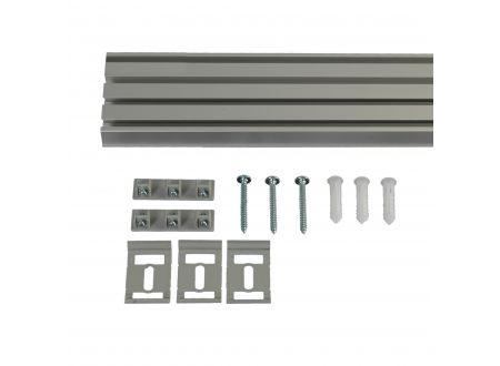 Liedeco Vorhangschiene 4-läufig für Vorhänge Schiebevorhang Farbe:aluminium Länge:270 cm