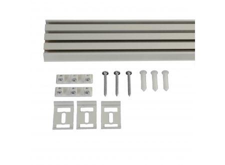 Liedeco Vorhangschiene 4-läufig für Vorhänge Schiebevorhang Farbe:weiß Länge:220 cm