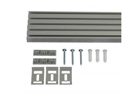 Liedeco Vorhangschiene 5-läufig für Vorhänge Schiebevorhang Farbe:aluminium Länge:220 cm