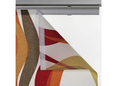 Liedeco Flächenvorhang Stoff Pisa Schiebevorhang Farbe:rot
