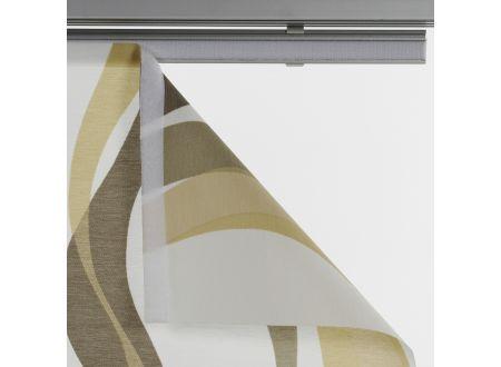 Liedeco Flächenvorhang Stoff Pisa Schiebevorhang Farbe:beige